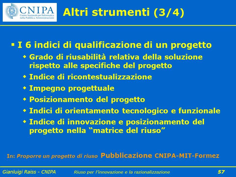 Altri strumenti (3/4) I 6 indici di qualificazione di un progetto