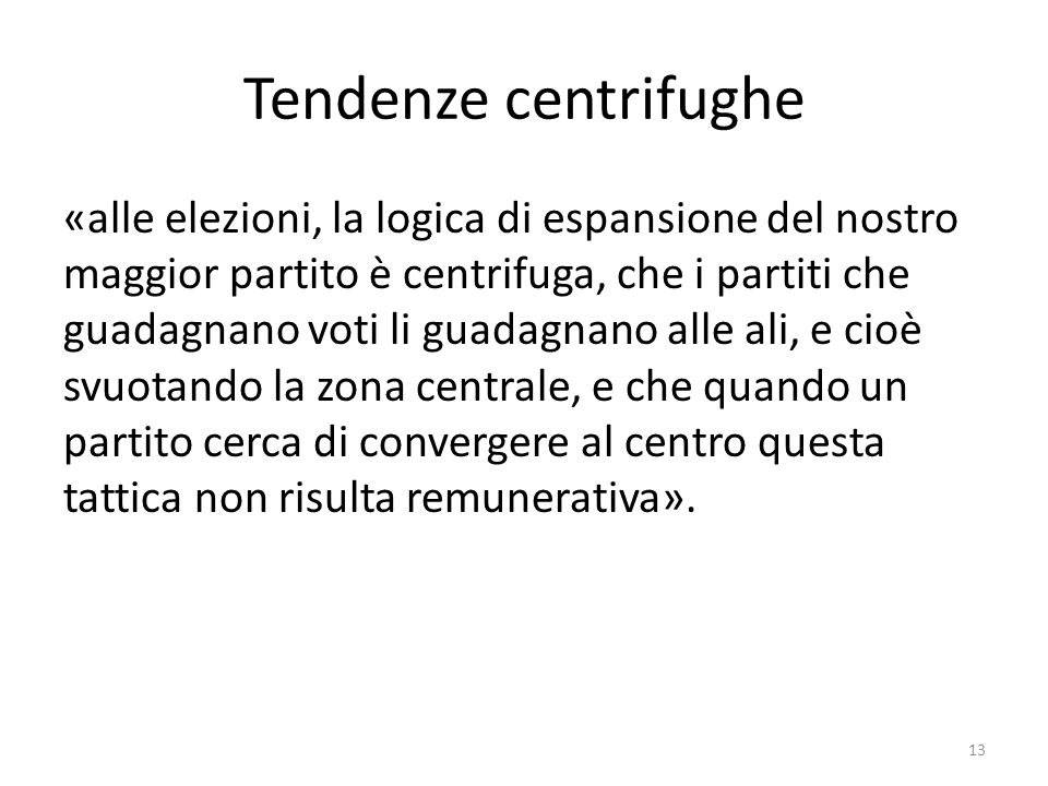 Tendenze centrifughe
