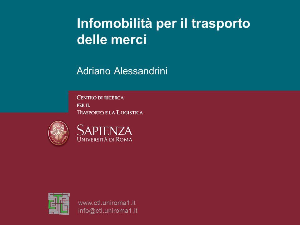 Infomobilità per il trasporto delle merci
