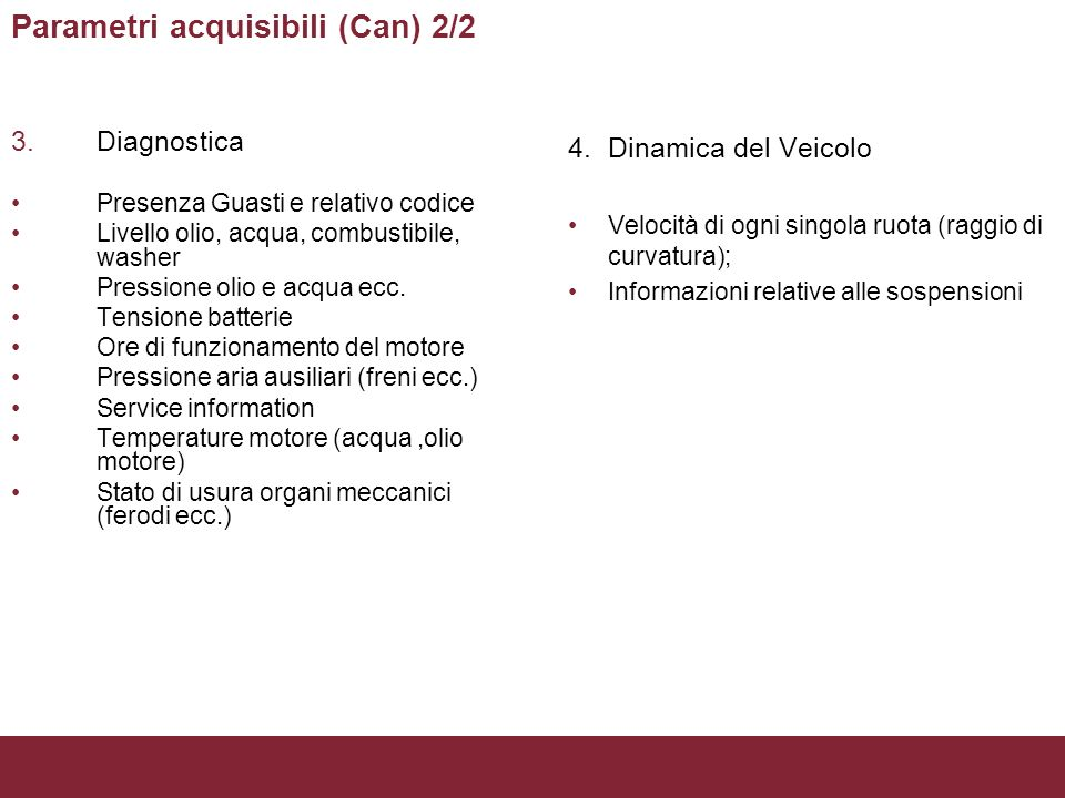 Parametri acquisibili (Can) 2/2