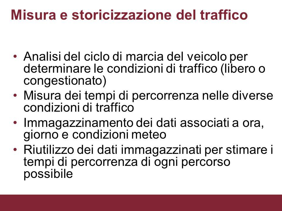 Misura e storicizzazione del traffico