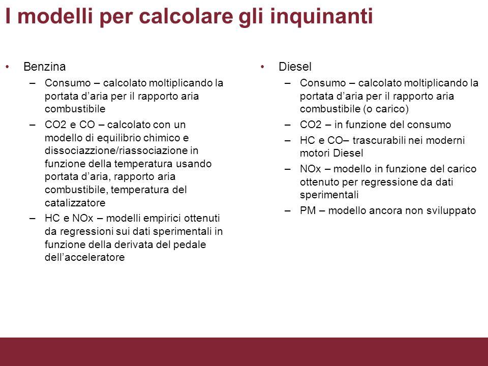 I modelli per calcolare gli inquinanti