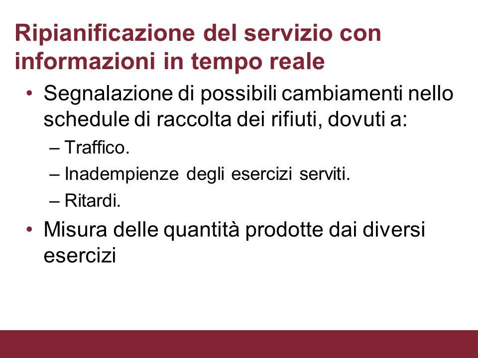 Ripianificazione del servizio con informazioni in tempo reale