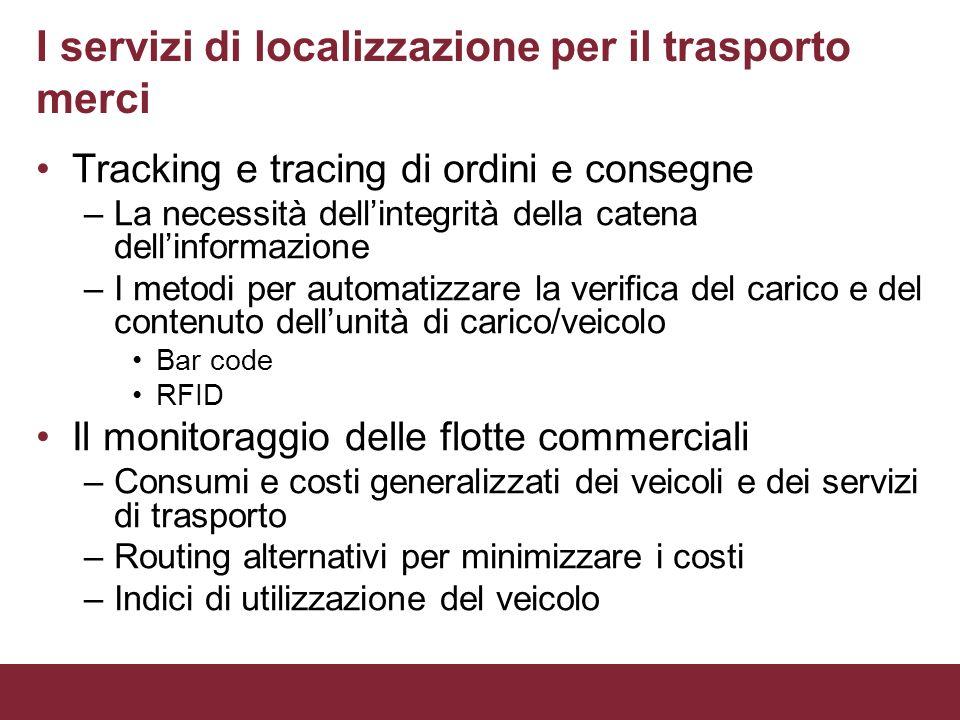I servizi di localizzazione per il trasporto merci