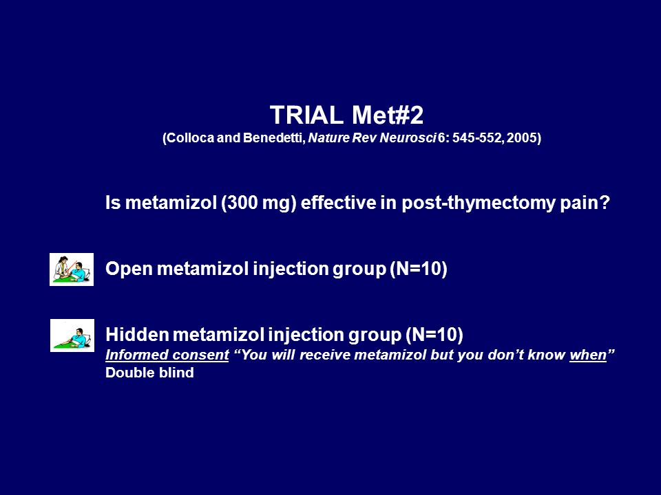 TRIAL Met#2 Is metamizol (300 mg) effective in post-thymectomy pain