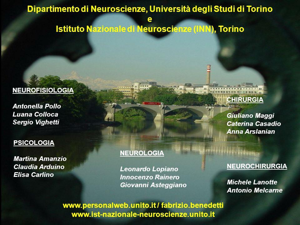 Dipartimento di Neuroscienze, Università degli Studi di Torino e