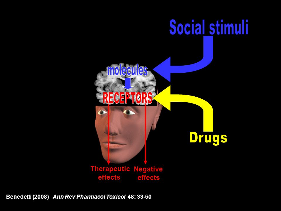 Social stimuli Drugs Therapeutic Negative effects effects