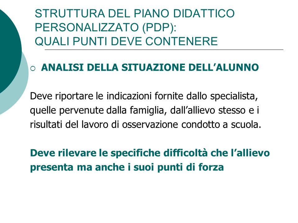 STRUTTURA DEL PIANO DIDATTICO PERSONALIZZATO (PDP): QUALI PUNTI DEVE CONTENERE