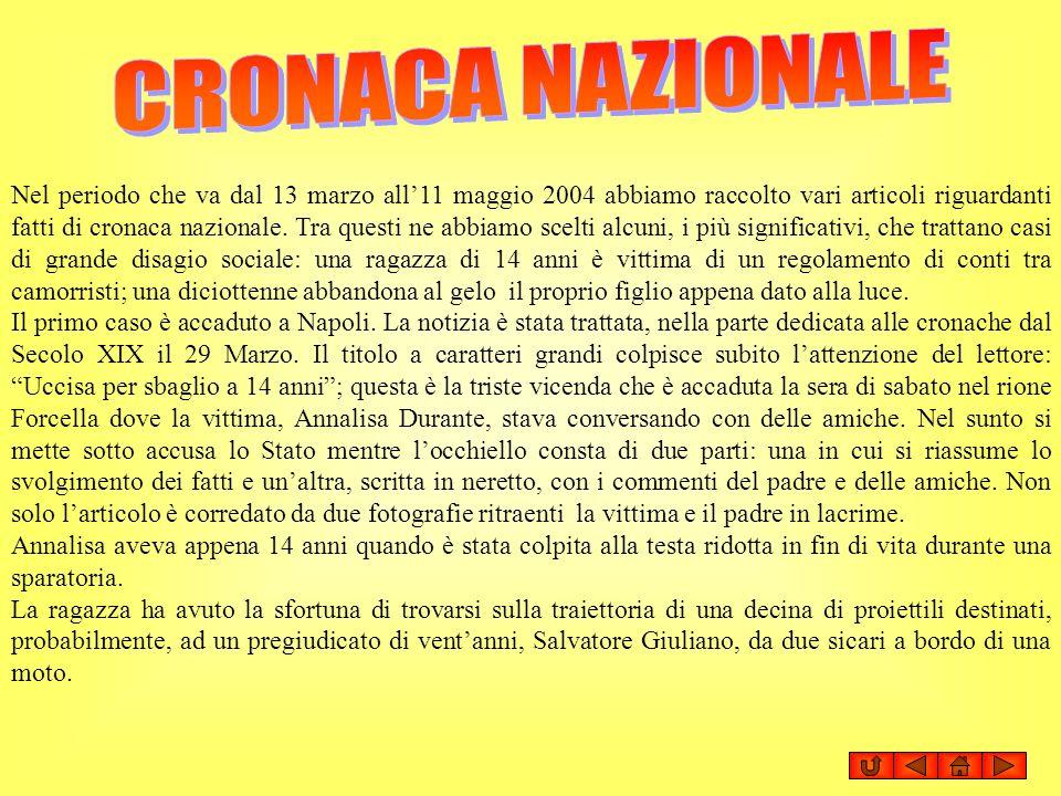 CRONACA NAZIONALE