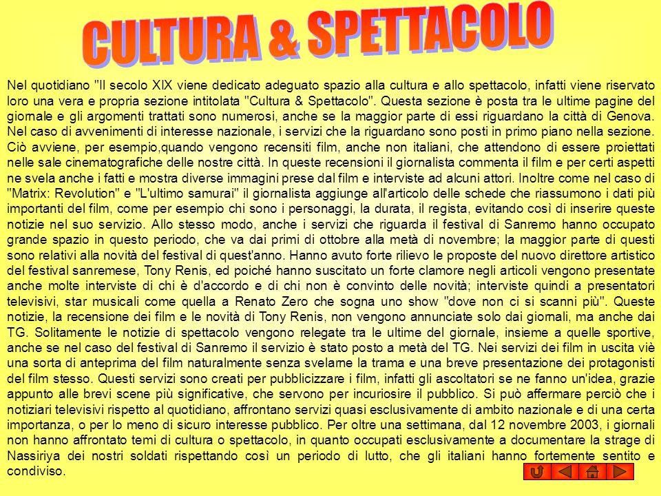 CULTURA & SPETTACOLO