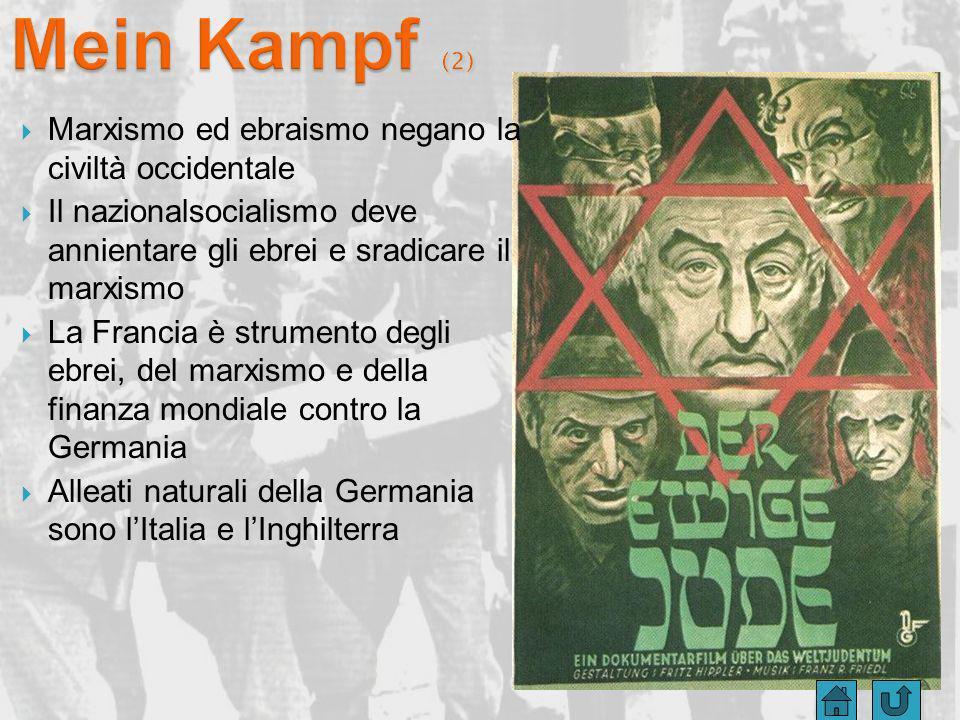 Mein Kampf (2) Marxismo ed ebraismo negano la civiltà occidentale