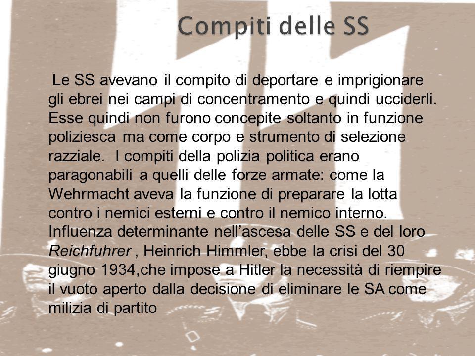 Compiti delle SS