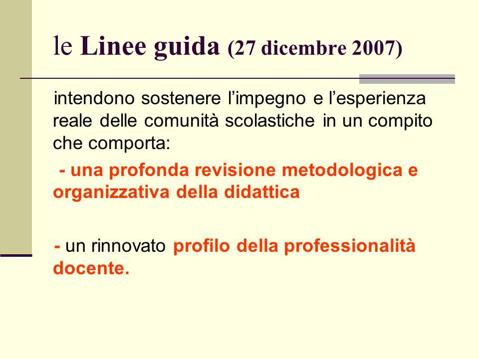 le Linee guida (27 dicembre 2007)