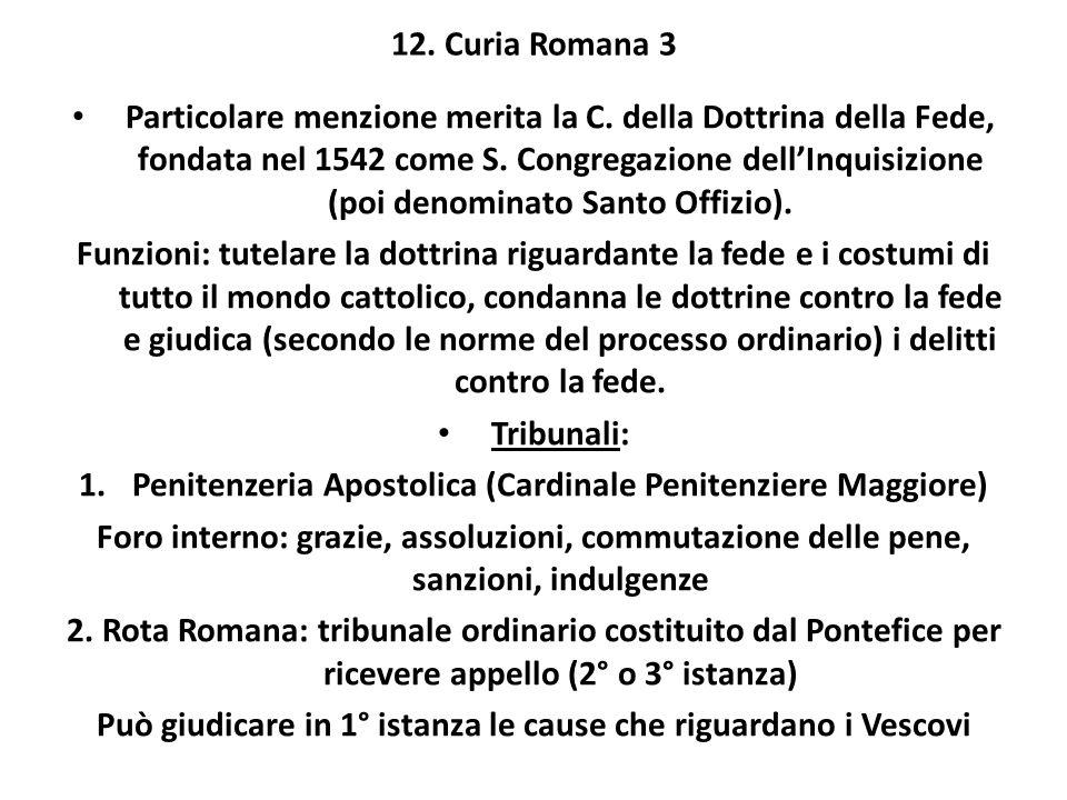 Penitenzeria Apostolica (Cardinale Penitenziere Maggiore)
