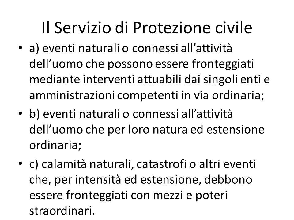 Il Servizio di Protezione civile