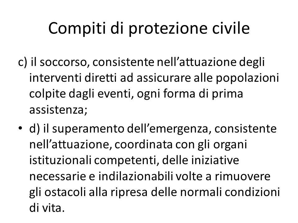 Compiti di protezione civile