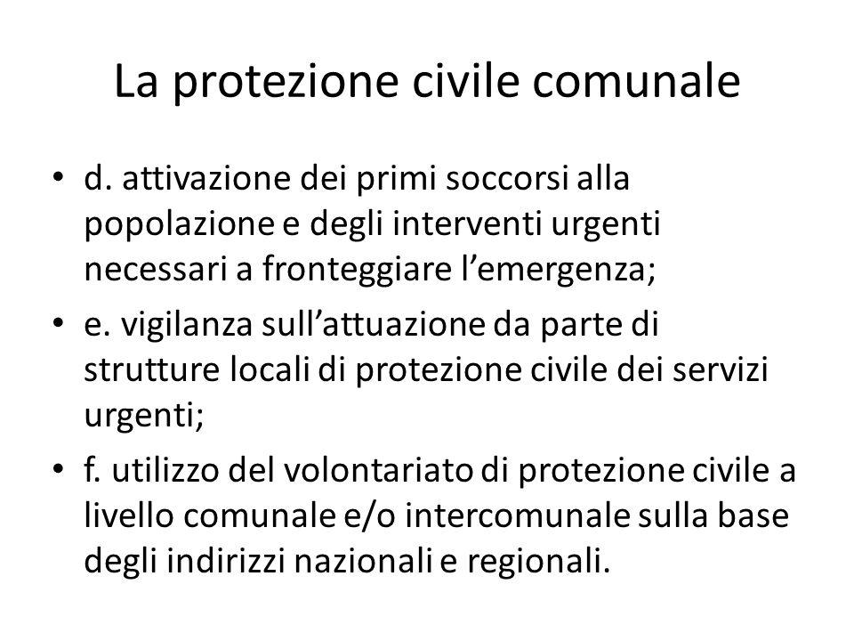 La protezione civile comunale