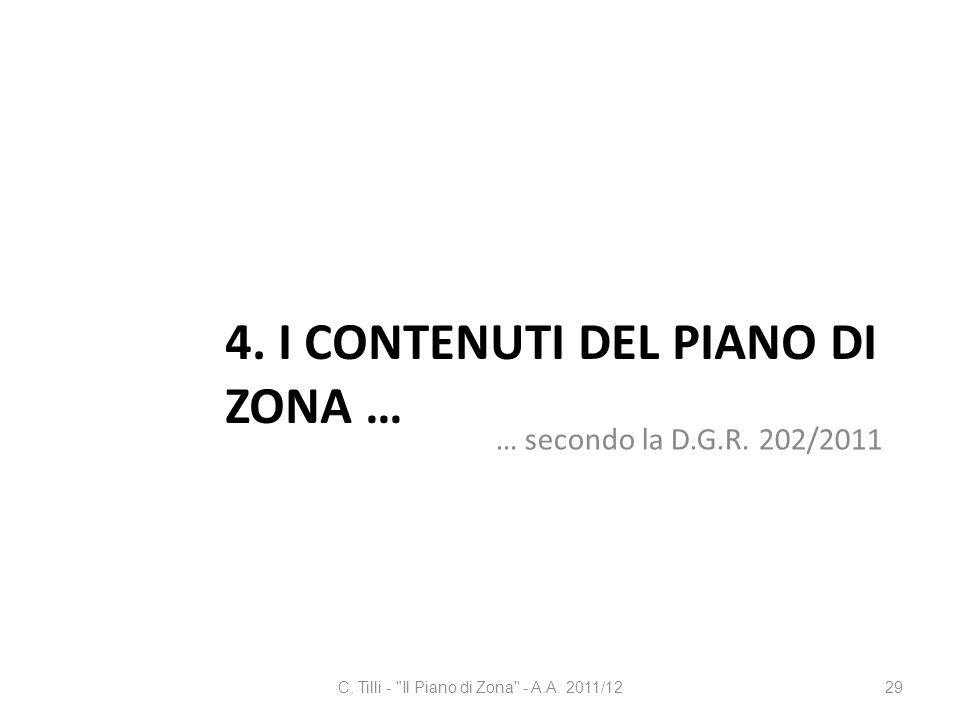 4. I contenuti del Piano di Zona …