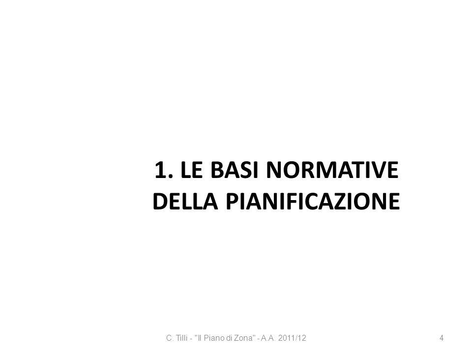 1. Le basi normative della pianificazione