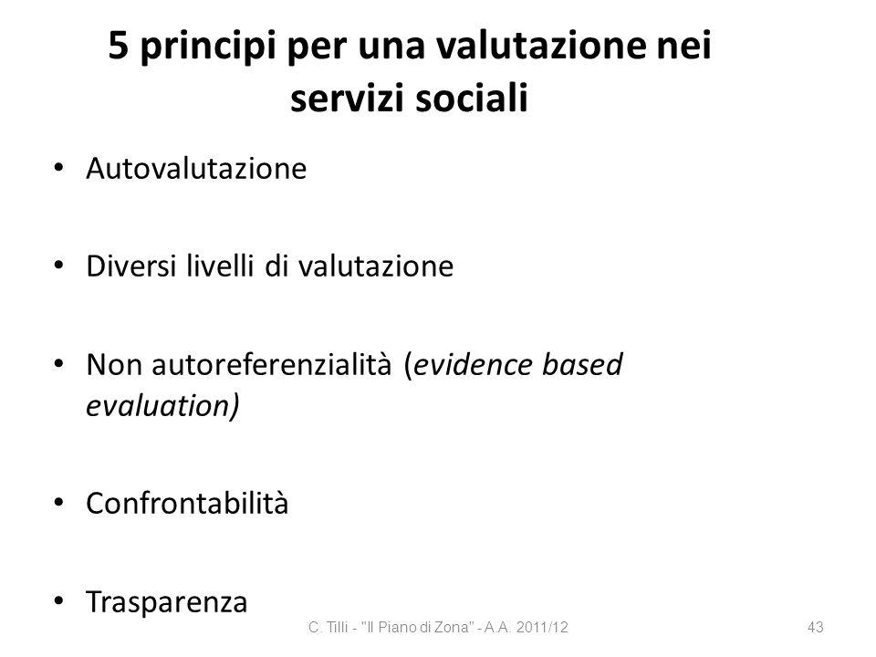 5 principi per una valutazione nei servizi sociali