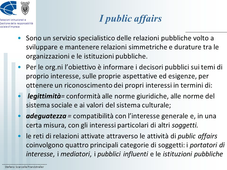 I public affairs