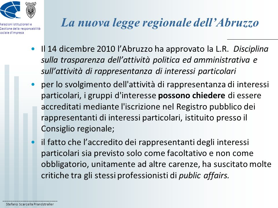 La nuova legge regionale dell'Abruzzo