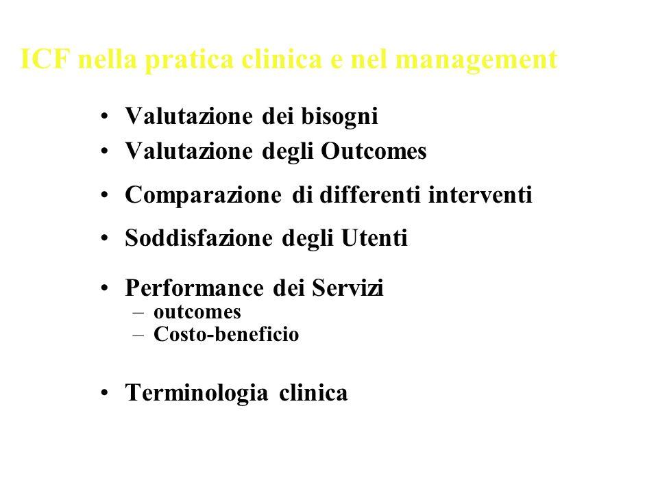 ICF nella pratica clinica e nel management