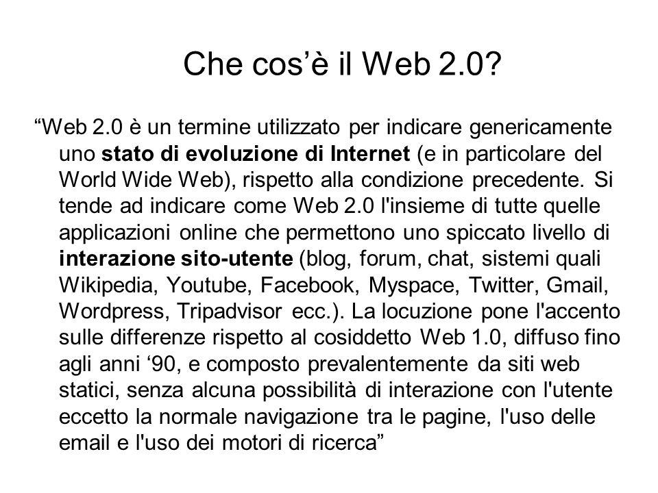 Che cos'è il Web 2.0