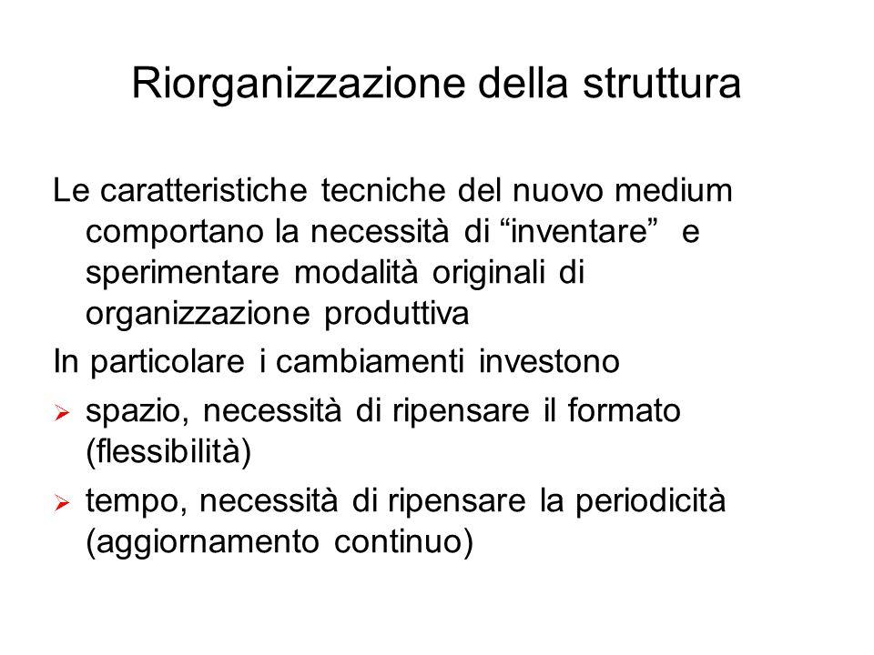 Riorganizzazione della struttura