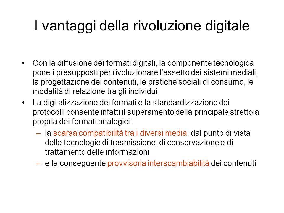 I vantaggi della rivoluzione digitale