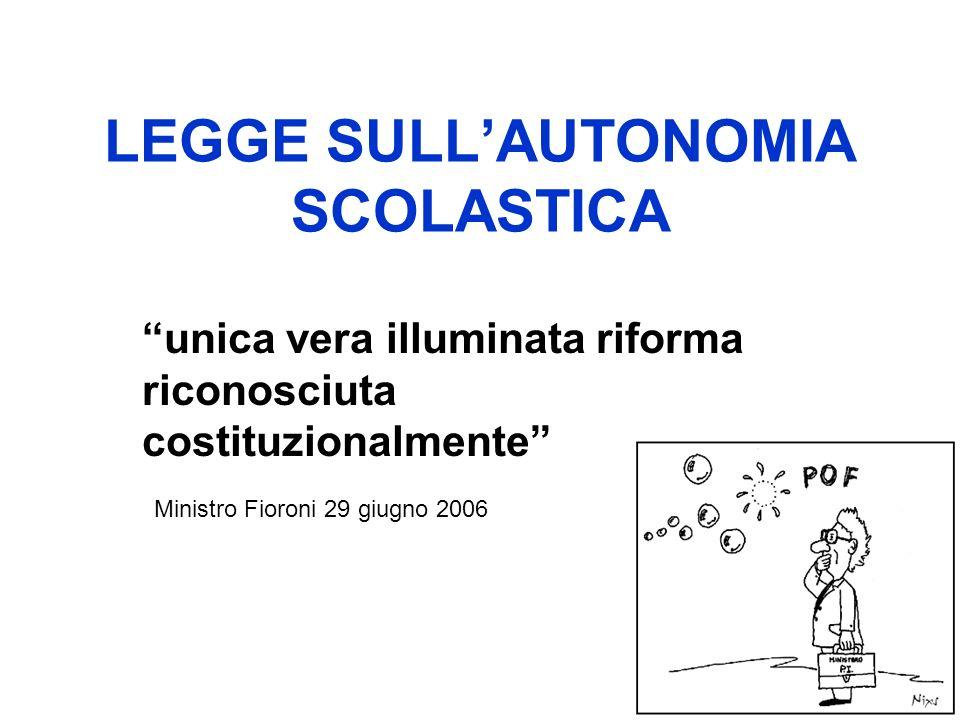 LEGGE SULL'AUTONOMIA SCOLASTICA
