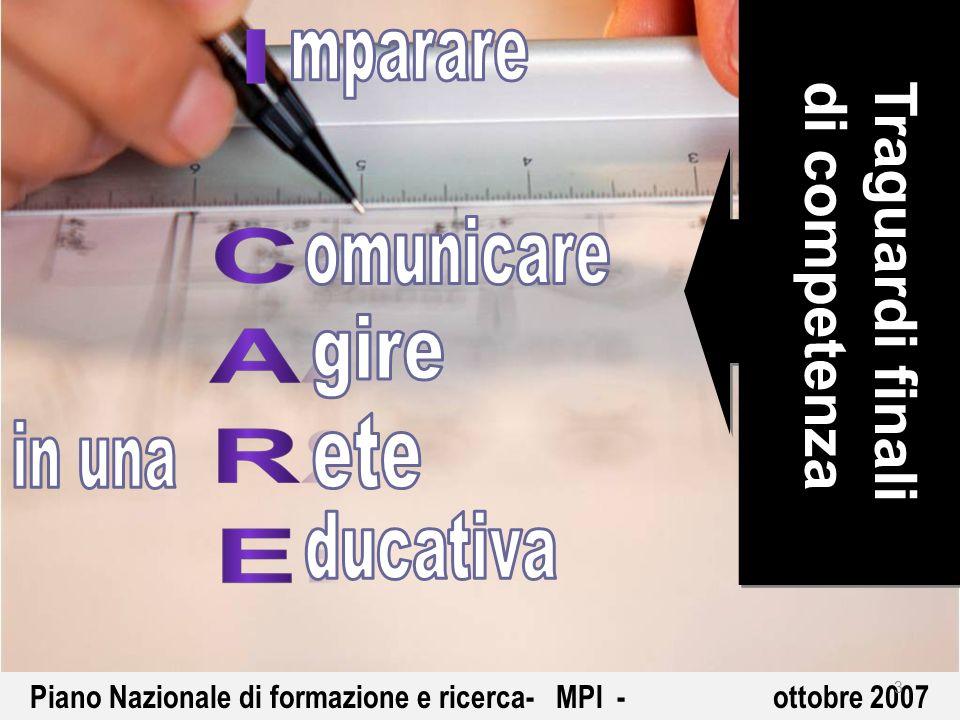 Piano Nazionale di formazione e ricerca- MPI - ottobre 2007