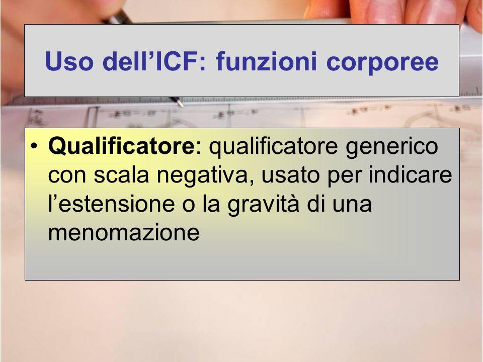 Uso dell'ICF: funzioni corporee