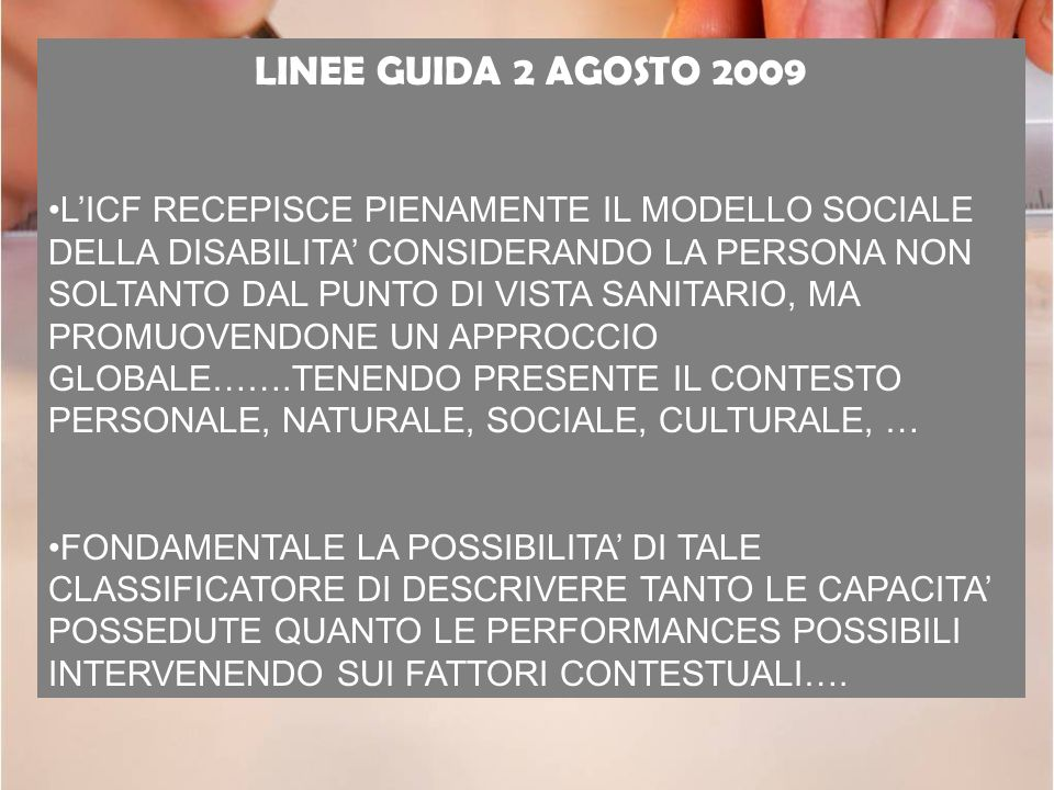 LINEE GUIDA 2 AGOSTO 2009