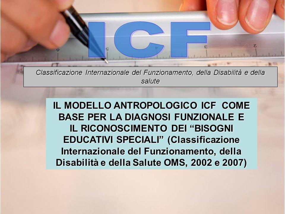 IL MODELLO ANTROPOLOGICO ICF COME BASE PER LA DIAGNOSI FUNZIONALE E