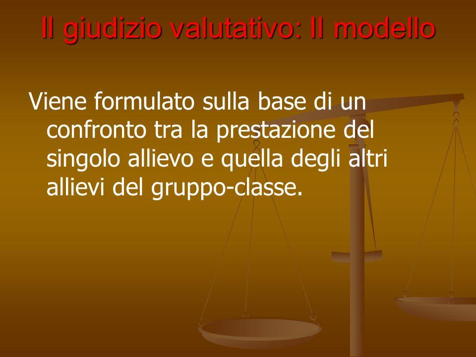 Il giudizio valutativo: II modello