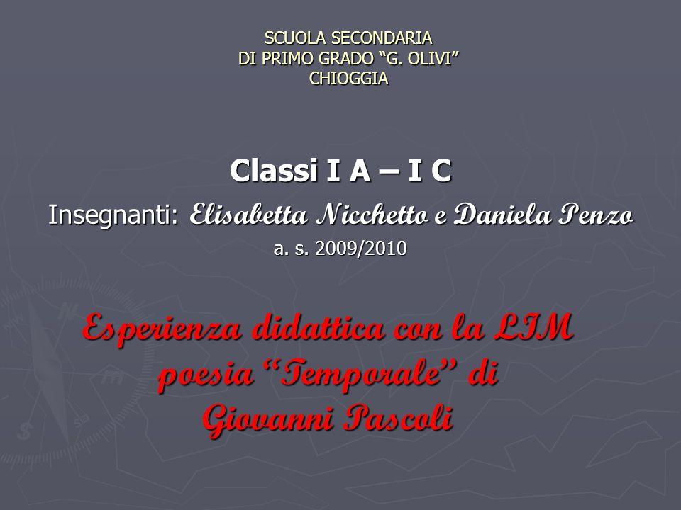 SCUOLA SECONDARIA DI PRIMO GRADO G. OLIVI CHIOGGIA