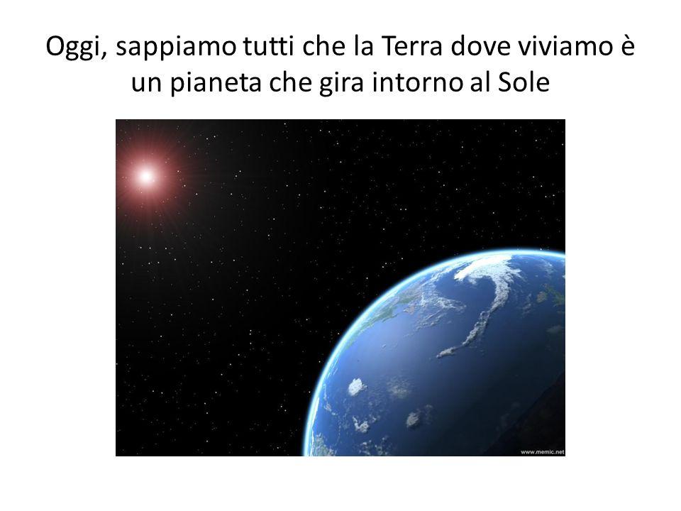 Oggi, sappiamo tutti che la Terra dove viviamo è un pianeta che gira intorno al Sole