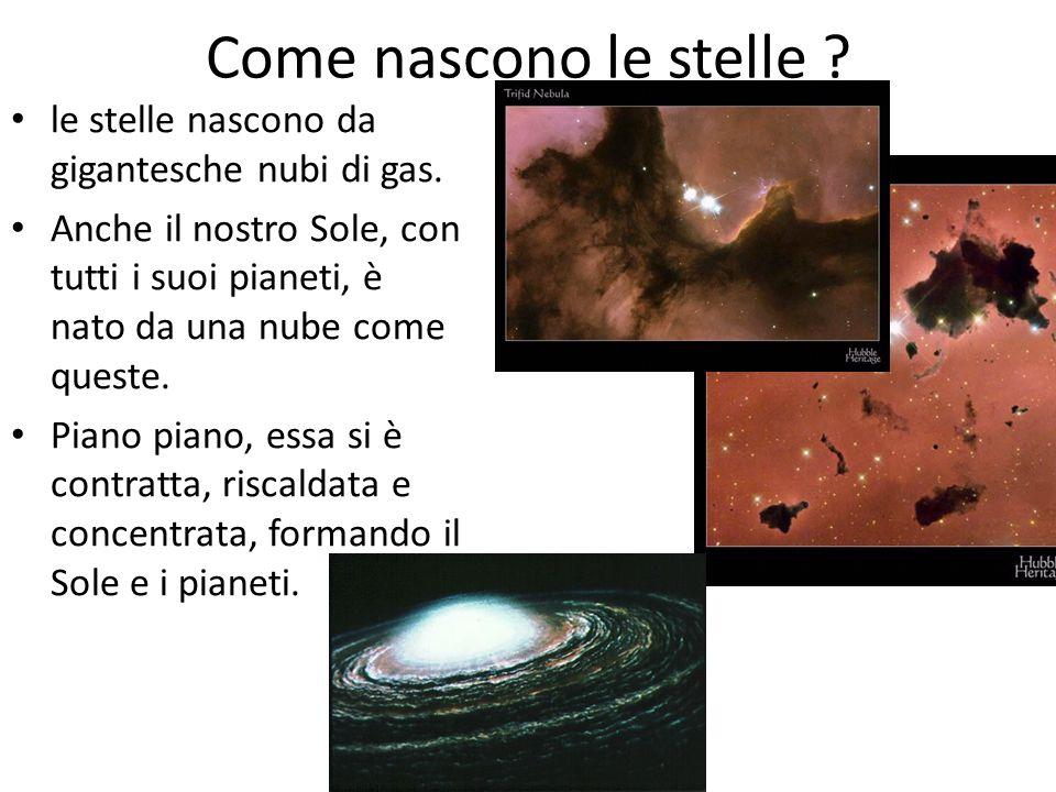 Come nascono le stelle le stelle nascono da gigantesche nubi di gas.