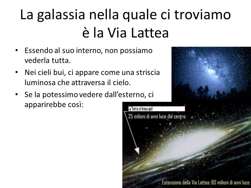 La galassia nella quale ci troviamo è la Via Lattea