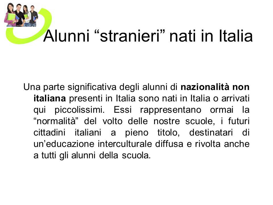 Alunni stranieri nati in Italia