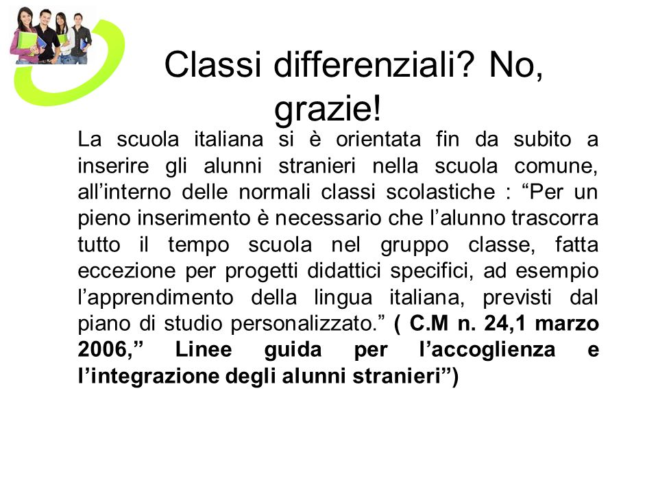 Classi differenziali No, grazie!