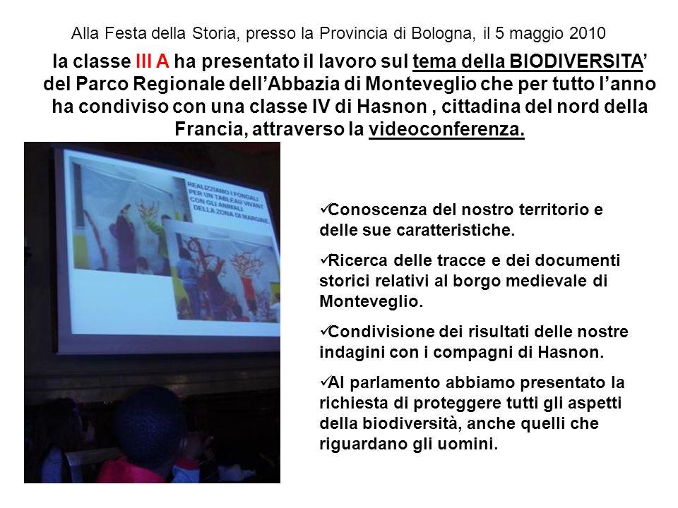Alla Festa della Storia, presso la Provincia di Bologna, il 5 maggio 2010