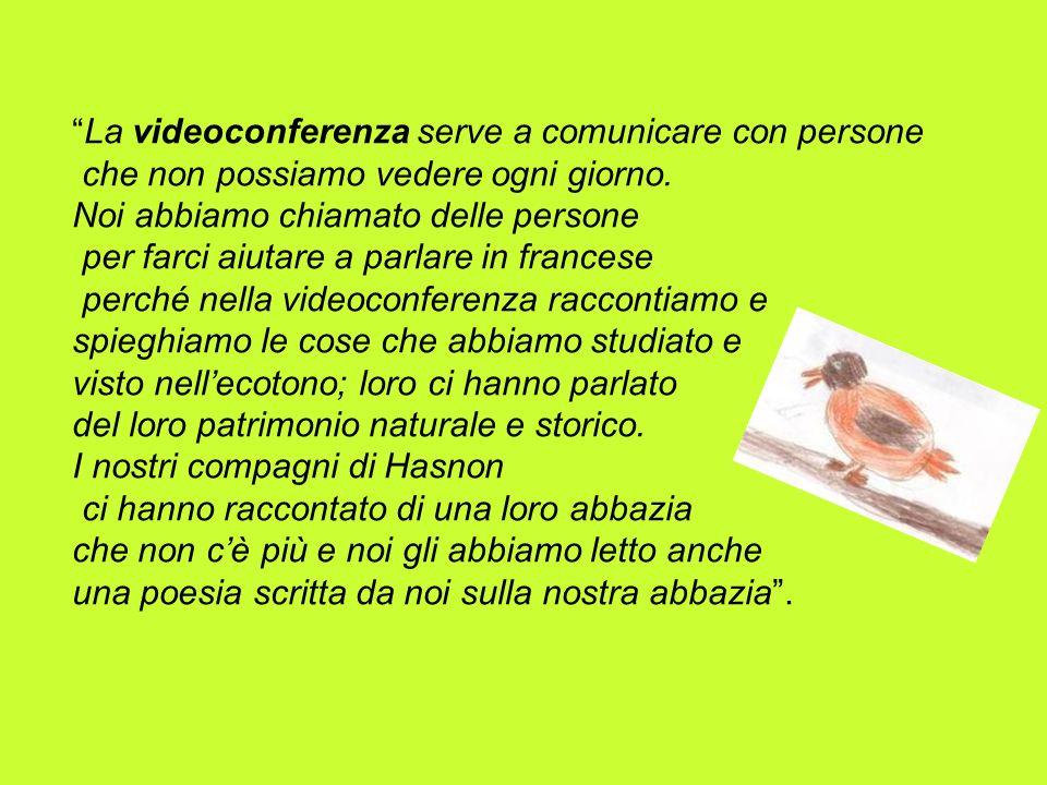 La videoconferenza serve a comunicare con persone