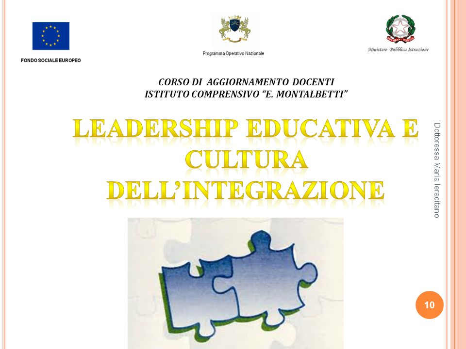 Leadership educativa e cultura dell'integrazione