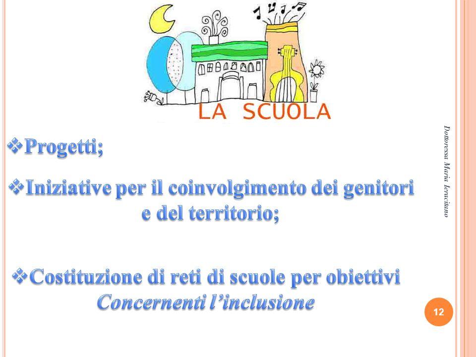 Iniziative per il coinvolgimento dei genitori e del territorio;