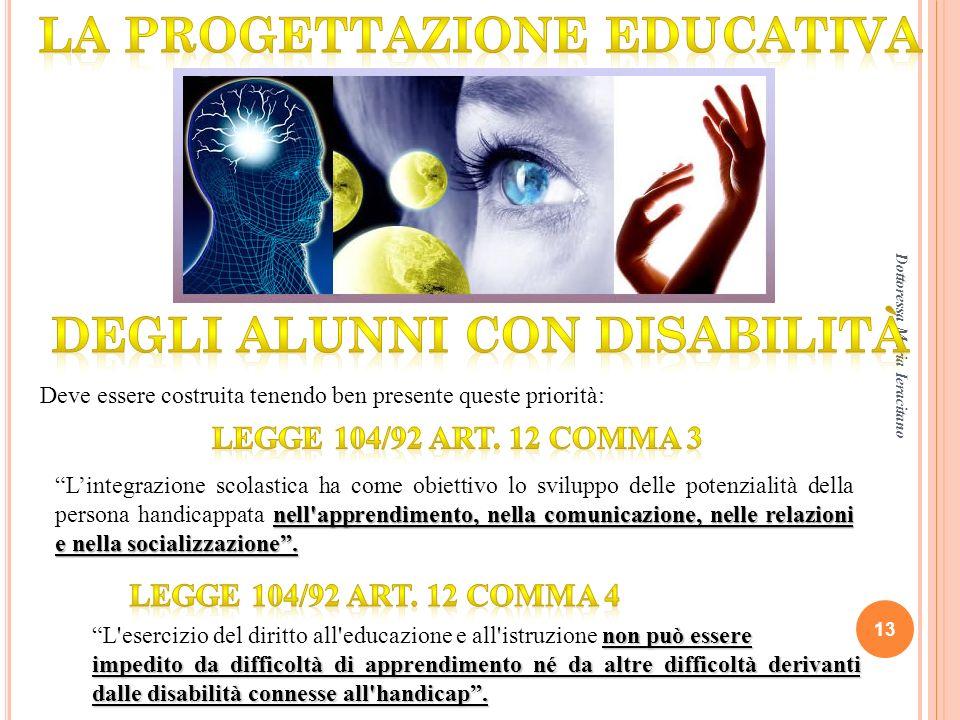 La progettazione educativa Degli alunni con disabilità