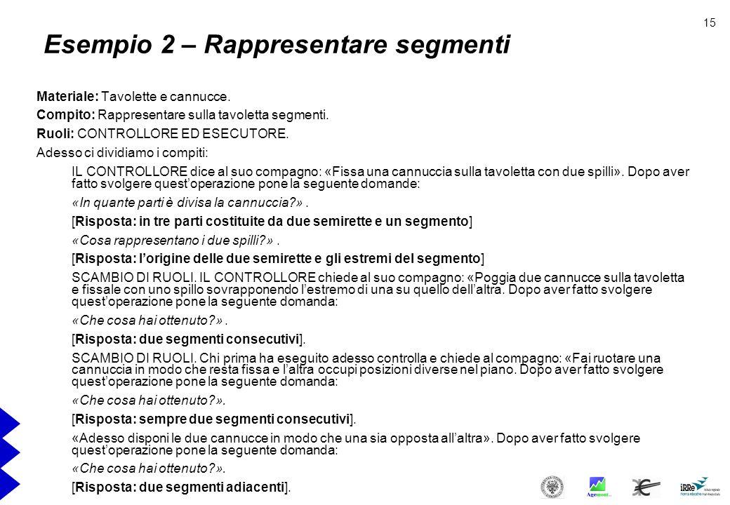 Esempio 2 – Rappresentare segmenti