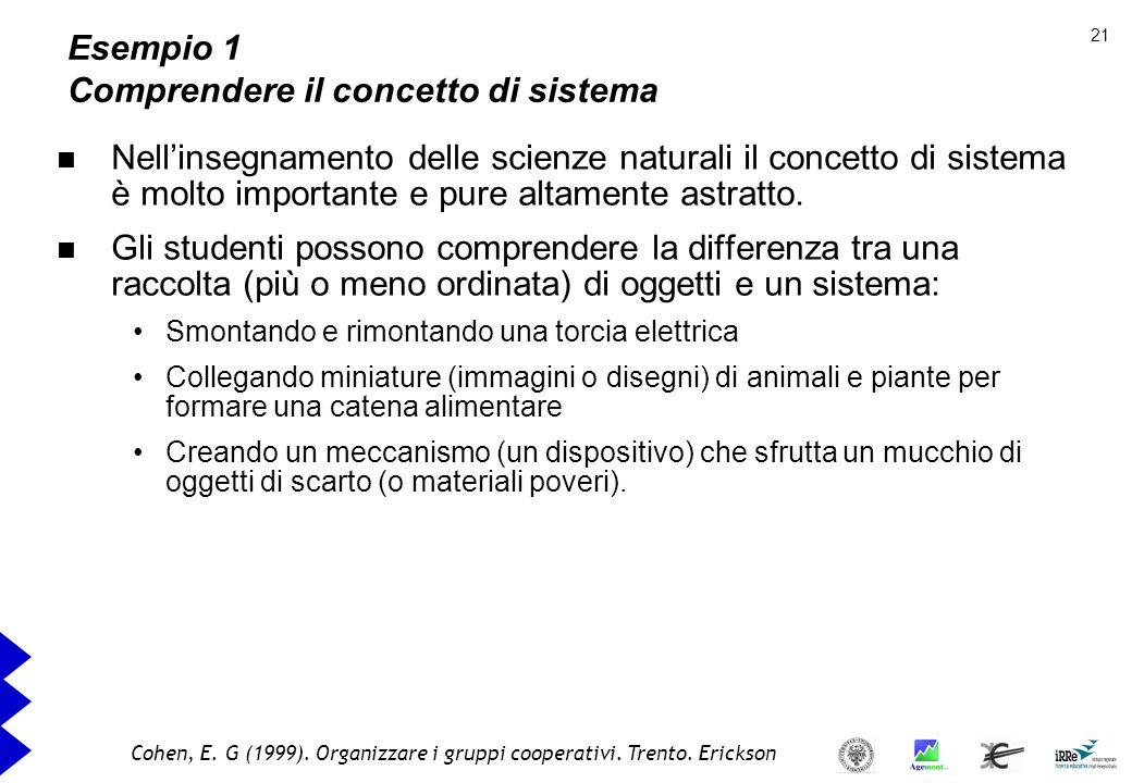 Esempio 1 Comprendere il concetto di sistema