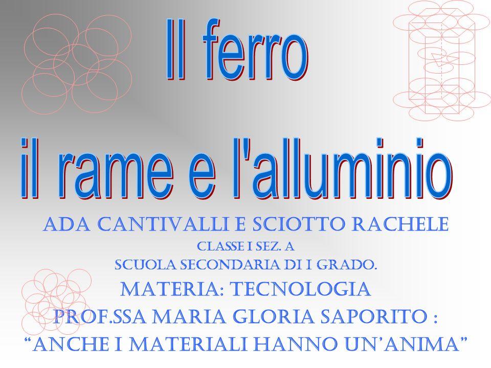 Il ferro il rame e l alluminio Ada Cantivalli e Sciotto Rachele
